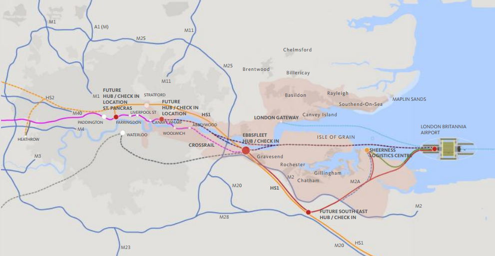 Thames gateway new rail links