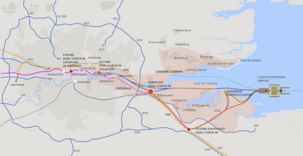 Thames gateway new rail links