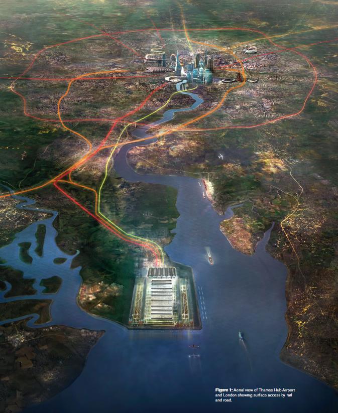 Thames hub aerial view