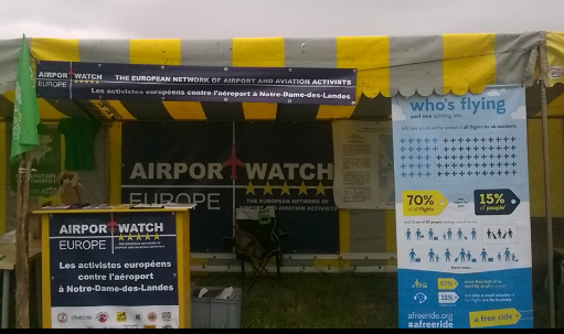 The AirportWatch Europe stall at NDDL 9.7.2016