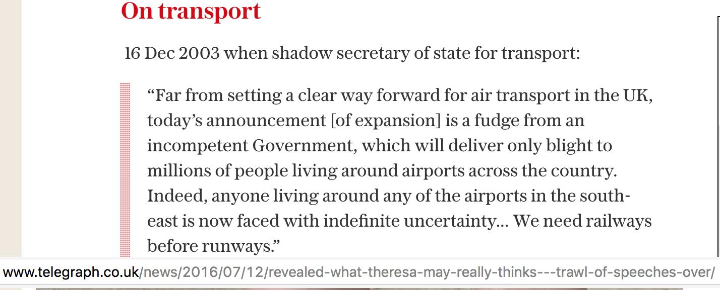 Theresa May 2003 quote