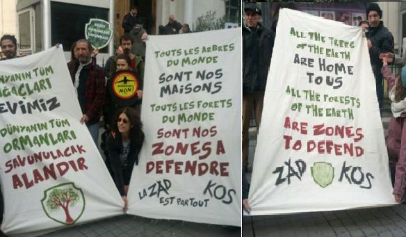 Turkish banners with ZAD 27.2.2016