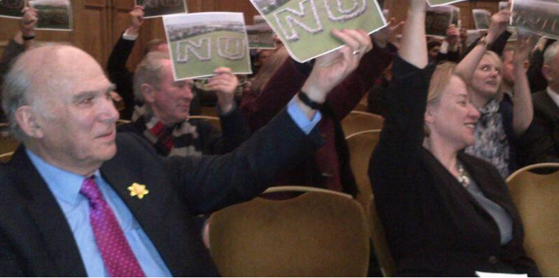 Vince Cable at the NO rally 3.3.2015