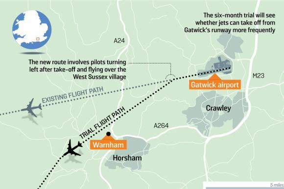 Warnham ADNID flight path