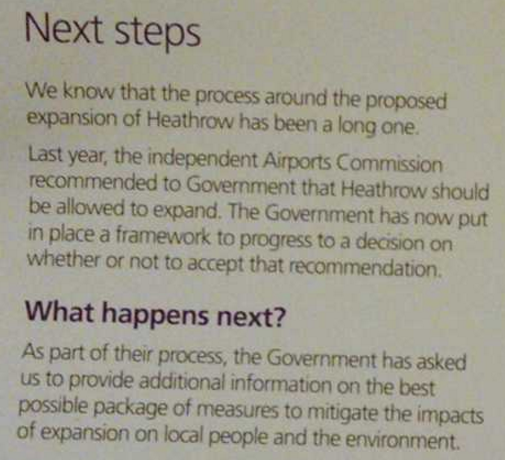 When will - Heathrow next steps handout