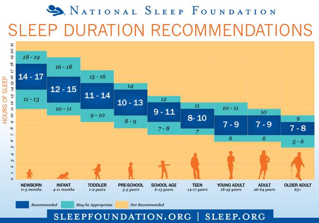 amount of sleep needed