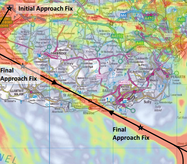 cardiff RNAV proposed routes Jan 2015