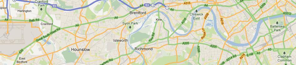 map heathrow to battersea