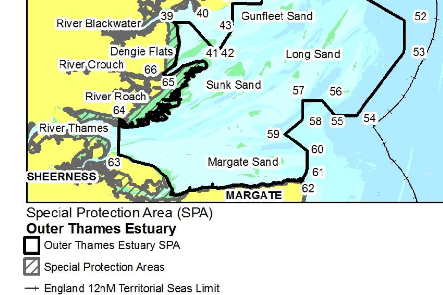 part of Outer Thames SPA map
